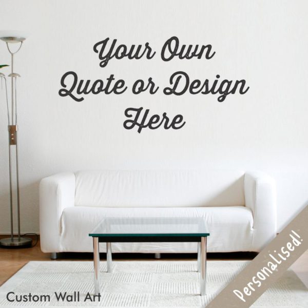 Personalised Vinyl Wall Sticker Wallthings